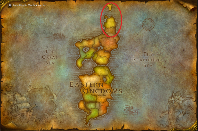 Eastern Kingdoms, Quel'Danas Circled