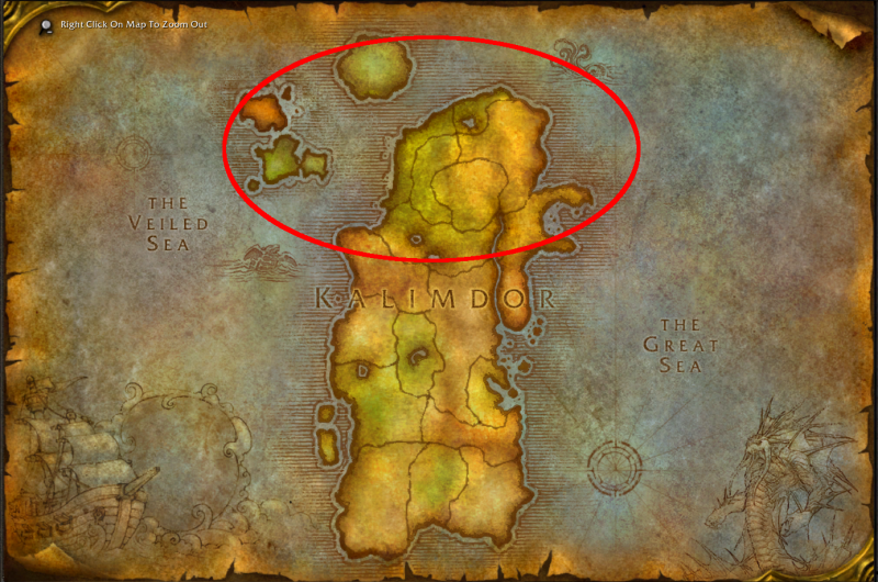 Map of Kalimdor
