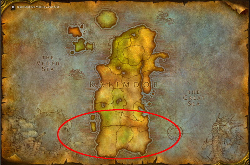 Kalimdor South marked